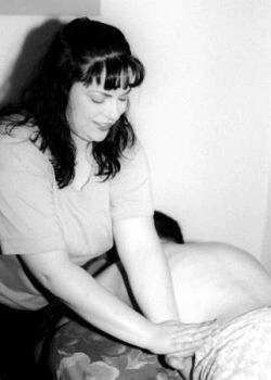 Photo of Michele Demonstrating Massage